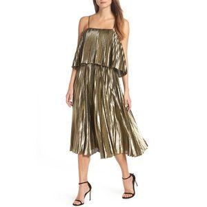 J. Crew Collection Pleated Midi Dress